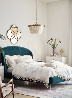 fash Slide View: Tasseled Linen Duvet Cover Master bedroom Various Types Of Countertops And Vanit Teal Bedding, Bedding Master Bedroom, Bedroom Sets, Home Bedroom, Bedding Sets, Bedroom Furniture, Home Furniture, Teal Headboard, Furniture Sets