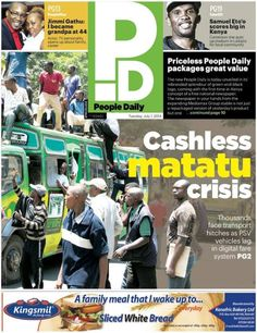 People Daily (2014 - ), Kenya (first issue, July 1) Newspaper Cover, July 1, Kenya, Personality, Baseball Cards, People, Free, People Illustration, Folk