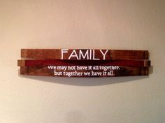 Reclaimed Wine Barrel Family Wall Hang Saying: Good by Martellas
