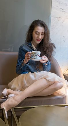 "Fashion Blogger Veronika Lipar of Brunette from Wall Street sharing how to dress for a coffee date with your girl friends #fashion #blogpost #date #coffeetime #ITpieces #ITshoes #fashiontrend #coffeedate #outfits #tulle #tulleskirt #elegant #dateoutfit #miniskirt #skirt #skirts #plexishoes #pumps #pumpshoes #chic #ss2018 #fashiontrends #denim #denimjacket #coffee #casual #sexandthecity #GianvitoRossi #heels #girlsquad #squadgoals"" width="