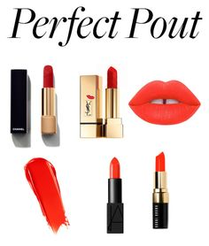 """""""Summer LipStick """" by zhinilee ❤ liked on Polyvore featuring beauty, Yves Saint Laurent, Chanel, NARS Cosmetics, Lime Crime, Bobbi Brown Cosmetics and summerlipstick"""