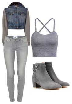 """""""Untitled #202"""" by princesssheryl1 on Polyvore featuring Moschino, Paige Denim and Gianvito Rossi"""