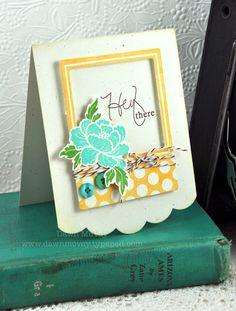 Hey There Card by Dawn McVey for Papertrey Ink (July 2012)