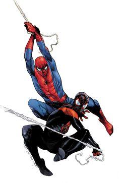 GENERATIONS MORALES & PARKER SPIDER-MAN #1 Cuando se trata de problemas, Peter Parker tiene todo! Los matones en la escuela, la tía enferma, un doppelganger, la responsabilidad aplastante, y - Esperar, un doppelganger ?! • ¿No puede Peter tomar un descanso? ¿Y qué tiene que ver toda esta locura con Miles Morales?