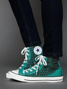 green studded converse high tops