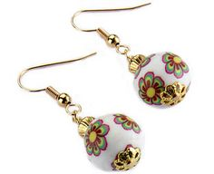 Original Gift Company Chinoiserie Bead Earrings, Polymer Clay Add a drop of colour to your outfit, no matter what the season, with these eye-catching pendant earrings. Handmade exclusively for us, each earring features a single bead decorated with an Oriental-st http://www.MightGet.com/february-2017-2/original-gift-company-chinoiserie-bead-earrings-polymer-clay.asp
