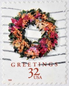 Christmas, Greetings, stamp printed in USA , circa 1998