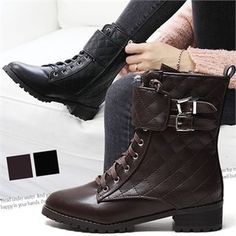 Buy Reneve Lace-Up Quilted Short Boots at YesStyle.com! Quality products at remarkable prices. FREE WORLDWIDE SHIPPING on orders over US$35.