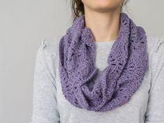 SCARF // Lilac Purple Women Scarflette Neckwarmer Cowl Crocheted Lace #bestofEtsy #etsyretwt