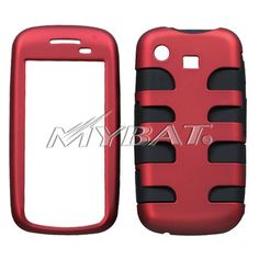 SAMSUNG A877 Impression Titanium Red Black Fishbone Phone Protector Cover >>> Click on the image for additional details.
