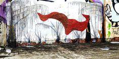 summer rain - winter forest (*Barek*) Tags: trees plants pasteup graffiti paint robe fox hedgehog suki dribbles dandylion barek