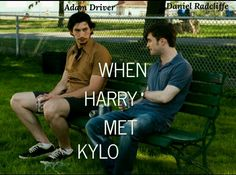 """HAHAHA! It's actually from a movie called """"What If"""".  #AdamDriver #DanielRadcliffe #KyloRen #HarryPotter"""