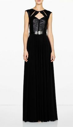 Deciphering Dress Codes: Formal. Catherine Deane Priva Leather Bustier Maxi Dress