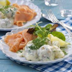 Snabblagad middag med dillstuvad potatis och kallrökt lax!