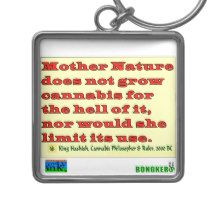Mother Nature Doesn't Grow For The Hell Of It Keychain