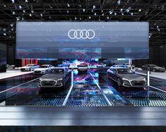 Audi Motor Show design concept. Audi Motor, Car Expo, Showroom Design, Exhibition Display, Stage Design, Booth Design, Retail Design, Maserati, Exhibitions