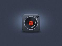 Turntable iOS Icon by Umar Irshad