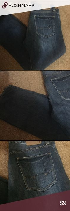 Men AE Jeans 34/32! Like new AE jeans slim dark washed. Authentic! American Eagle Outfitters Jeans Slim