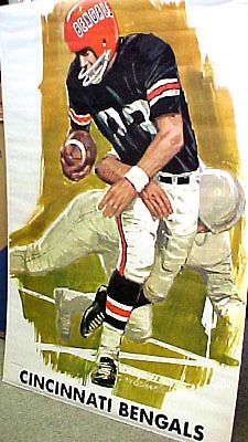 Vintage Original AFL 1968 CINCINNATI BENGALS FOOTBALL Dave Boss Theme Art Poster - Sold for $154.51 Oct 2013