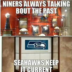Even though 49ers lost. Seahawks better enjoy this moment, their gonna loose! GOODBYE FOR GOOD SEA CHICKENS #go49ers #goBroncos