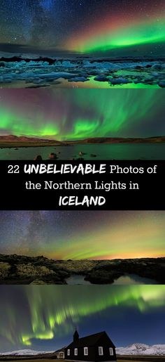 Is seeing the Northern Lights on your bucket list? Here are 22 breathtakingly beautiful photos of the Northern Lights (Aurora Borealis) in Iceland. Travel inspiration for a winter trip to Iceland.
