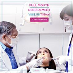 Plaque and tartar on your teeth can lead to serious gum disease. If you are experiencing heavy plaque and tartar deposits on your teeth, then it's time to get checked before it gets worst. We use the latest equipment to remove the plaque and tartar very carefully with our Full Mouth Debridement Procedure.  #Lookswoow #bestdentalclinicindubai #mydubai #DentalCleaning