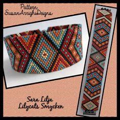 """(@lilycatssmycken) on Instagram: """"Armband i Peyote, 3200 pärlor ditsydda 1 och 1. Pattern SusanArrighiDesigns. #armband #smycken…"""""""