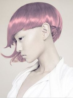 this 'do is like Dorothy Hamil circa '76 meets Aeon Flux . . . i digs . . . photography by Chen Man