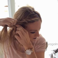 Twist Hairstyles, Hairstyles With Bangs, New Hair Style Girls, Bangs Back, Twisted Bangs, French Twists, Hair And Nails, Hair Makeup, Hair Beauty