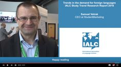 IALC 2016 Study Travel Research Report, presented by Samuel Vetrak, CEO of StudentMarketing. Download the Research from the #IALC website: http://www.ialc.org/report/study-travel-research-2016