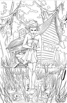 """""""omg did nei just draw a building type thing?"""" I can hear it now. This is a cover Ive just finished for the Grimm Fairy Tales DreamEater Saga. I was pitched this cover concept and I jumped at the c...:"""