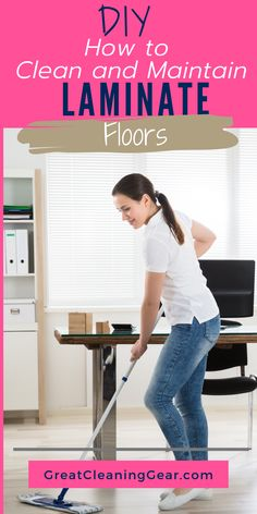laminate flooring DIY How to Clean and Maintain Laminate Floors. , laminate flooring DIY How to Clean and Maintain Laminate Floors. This guide will help you learn how to clean laminate floor without streaking so you can enjoy a spotless shine. Cleaning Laminate Wood Floors, Laminate Flooring Cleaner, Wood Floor Cleaner, Diy Carpet Cleaner, Cleaning Wood, Diy Flooring, Deep Cleaning, Floor Cleaning, Cleaning Hacks