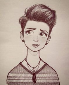 "Instagram'da Cameron Mark: ""#cameronmark #art #design #illustration #drawing #pixiecut #sketch #doodle"""