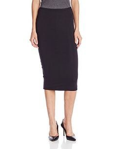 Fitted midi skirt in spandex blend converts to knee-length pencil skirt with fold-over waist hence you can wear this versatile skirt at any length simply by folding it over.