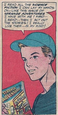 A character in Strange Adventures # 144 shows that he has read Strange Adventures # 136.  Dudes! You're blowing my mind!