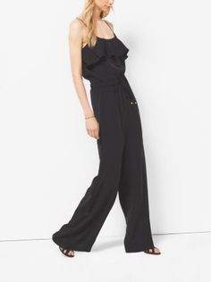 Find the Ruffled Crepe Jumpsuit by Michael Kors at Michael Kors. 2e22e18dc0