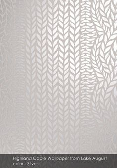 Highland Cable wallpaper from Lake August in Silver