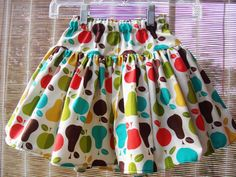 Apple And Pears Twirl Skirt 2T3T4T578910 by JustkiddingBoutique, $19.99