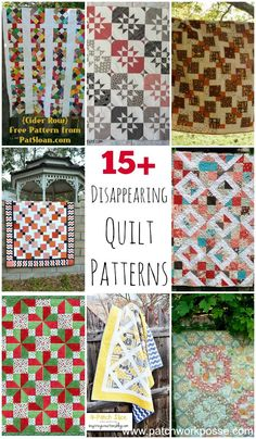 Disappearing Quilt Patterns free disappearing quilt patterns 15 tutorials Simple blocks to start with- stunning quilts at the finish.free disappearing quilt patterns 15 tutorials Simple blocks to start with- stunning quilts at the finish. Quilt Block Patterns, Pattern Blocks, Quilt Blocks, Sewing Patterns, Quilting Tips, Quilting Tutorials, Quilting Designs, Quilting Board, 9 Patch Quilt