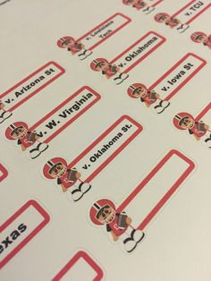 Texas Tech football schedule planner stickers (Red Raiders) by ImagineThatbyLori on Etsy https://www.etsy.com/listing/270866051/texas-tech-football-schedule-planner