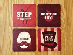 Early Times Fire Eater coasters: Brown-Forman Design