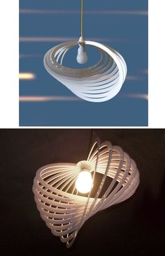 Lampada di design a sospensione // #Design lamp by cbdisegno via it.dawanda.com