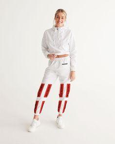 Fashion Wakerlook Women's White Logo Track Pants | My Luxury Intimates