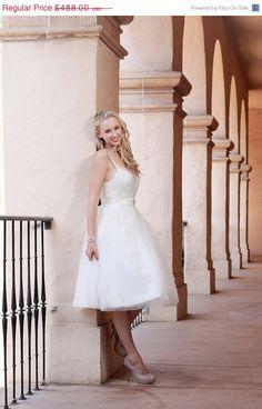 ON SALE Emelie Short Wedding Dress by TheLittleWhiteDress on Etsy, $366.00