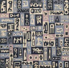 Juan Batlle Planas, témpera y grafito sobre papel montado sobre cartón.