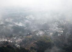 吉野山 上千本より蔵王堂 霧風景 : 魅せられて大和路