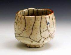 beautiful crackle tea bowl