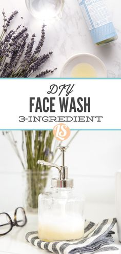 Super easy homemade face wash with just 3 natural ingredients. Natural Face Wash, Natural Face Cleanser, Natural Skin Care, Natural Makeup, Natural Beauty, Face Cleaning Routine, Face Care Routine, Homemade Face Wash, Healthy Skin Tips