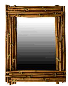 Tropical Decor Bamboo Mirror  item 725a