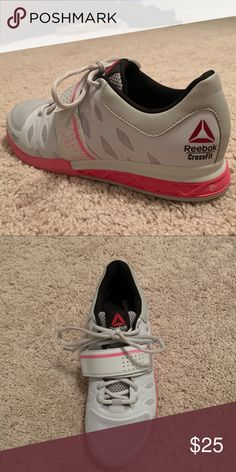 bc1fba24b0d4 Reebok CrossFit lifters Size 8.5 Reebok CrossFit lifting shoes. In white  and pink. Worn
